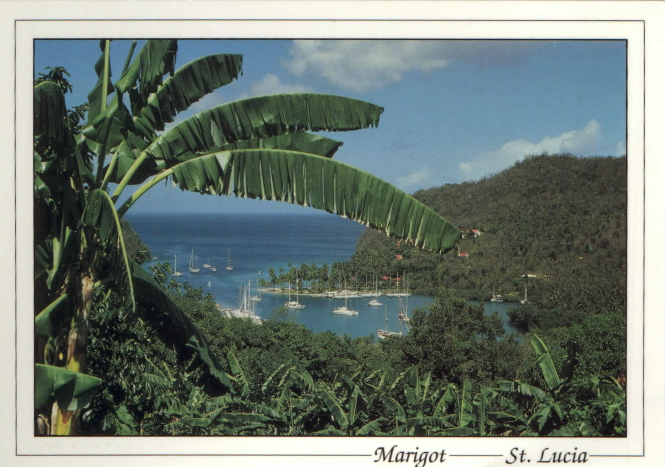 A picture postcard view of stunning Marigot Bay